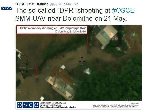 Обстріл безпілотників ОБСЄ на Донбасі: моніторингова місія показала фотодокази