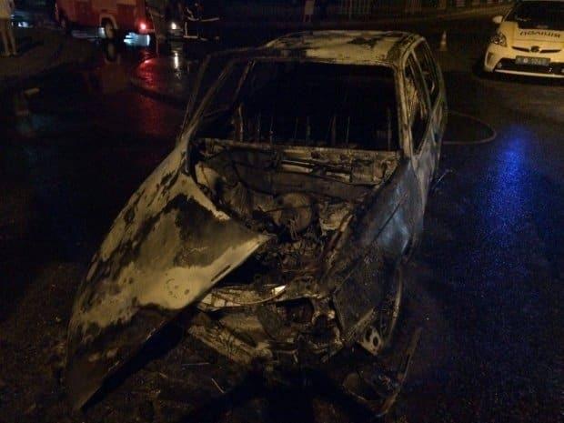 Огненное ДТП во Львове: после столкновения с маршруткой Opel сгорел дотла