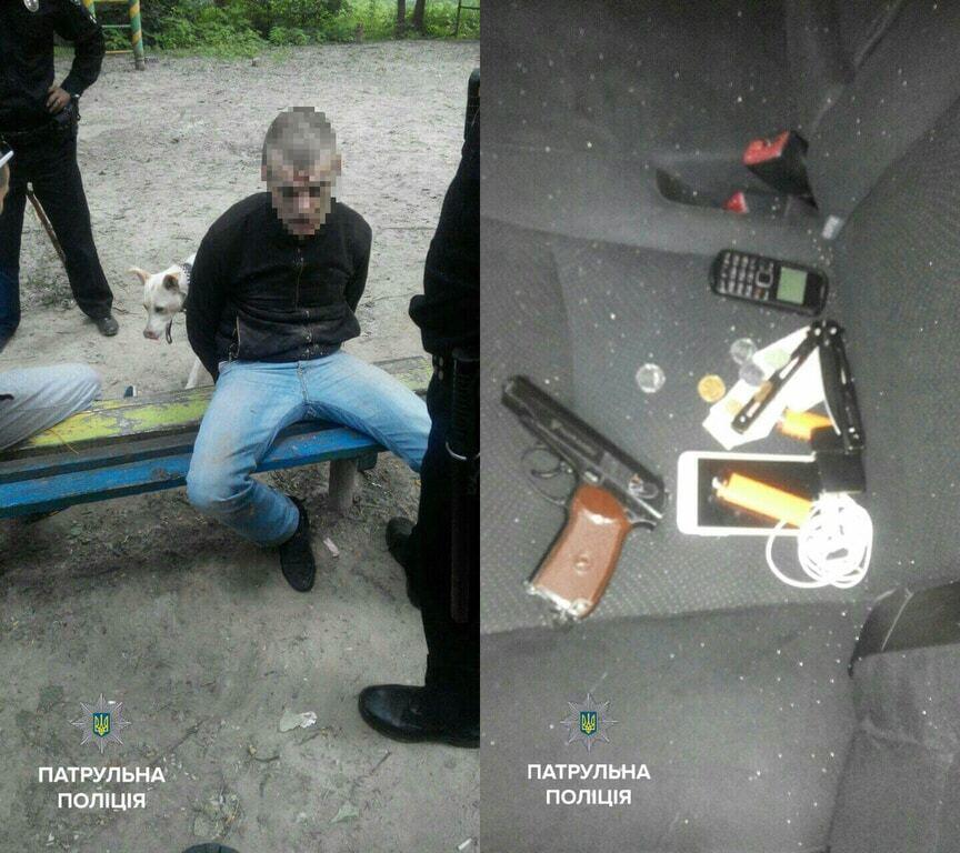 У Києві п'яна компанія розважалася стрільбою на дитячому майданчику