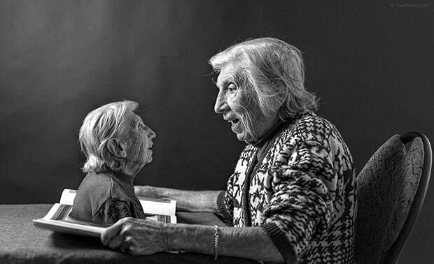 Ностальгия об ушедшей молодости: сын снял свою 91-летнюю мать в трогательной фотосессии