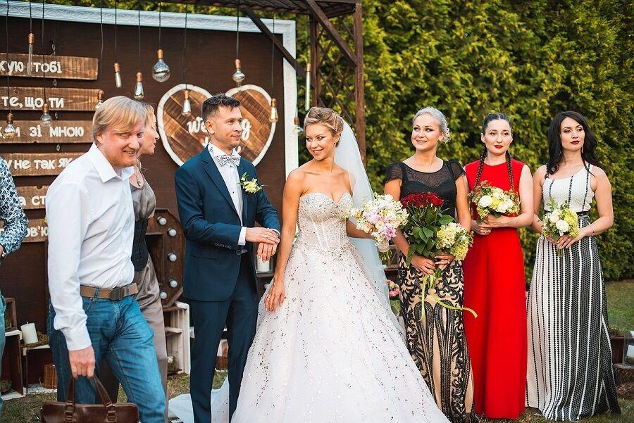 Дмитрий Ступка и Полина Логунова отгуляли пышную свадьбу