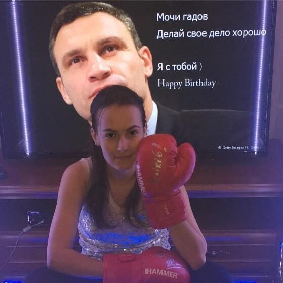 Знаменитая гимнастка оригинально поздравила Кличко с днем рождения