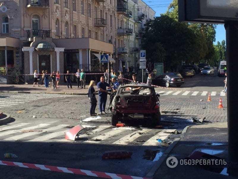 Появились первые фото с места гибели Павла Шеремета