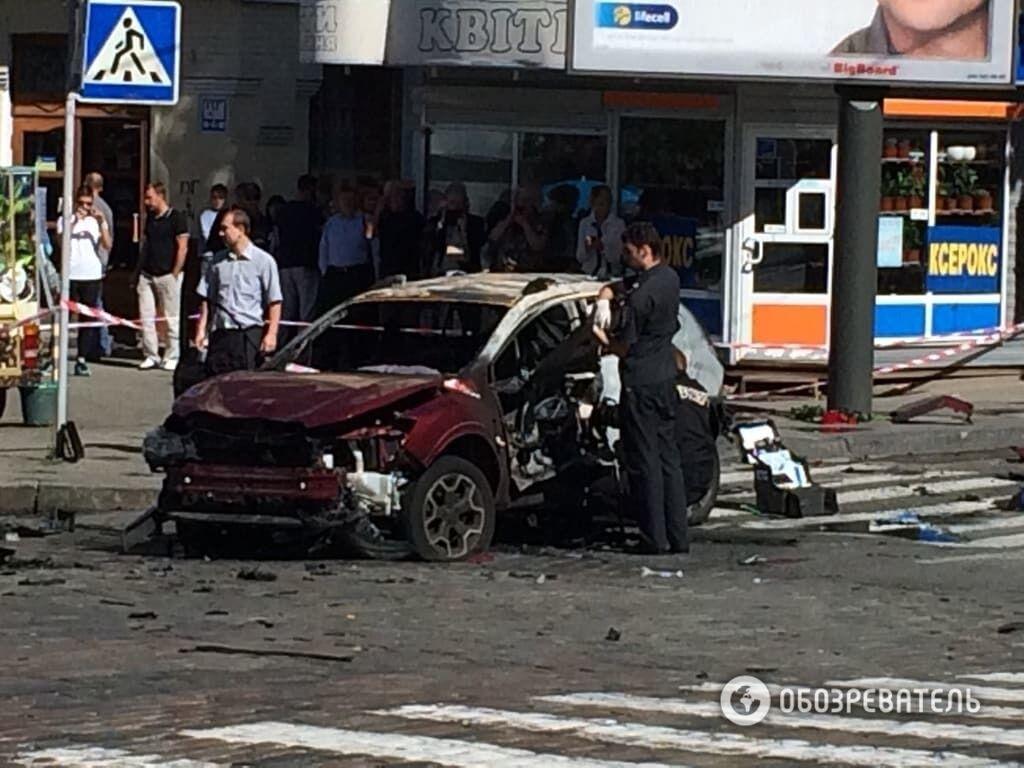 Груда обгоревшего железа: как выглядит авто, в котором погиб Шеремет