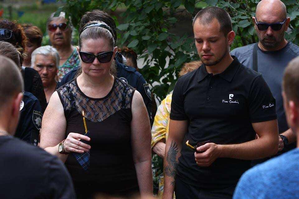 В Киеве простились с полицейским Ариной Кольцовой