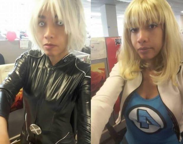Костюмы супергероев: девушка из США оригинально борется с абсурдным дресс-кодом на работе