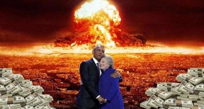 Мишель все видит: объятия Барака Обамы и Хилари Клинтон рассмешили сеть