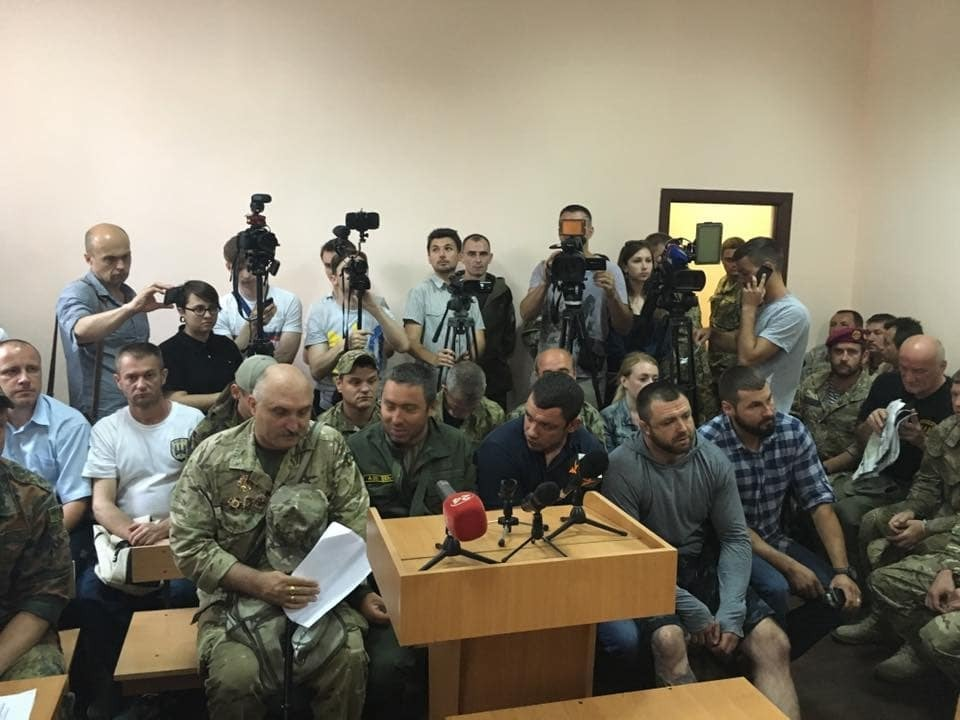 В Киеве на суд над прокурором зоны АТО Куликом пришли Лыхолит и Семенченко