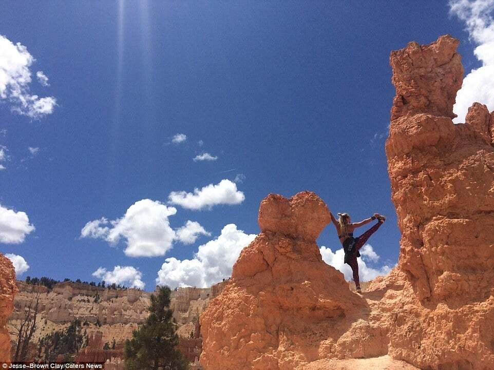Стиль жизни: фото красавицы-инструктора по йоге, путешествующей по миру