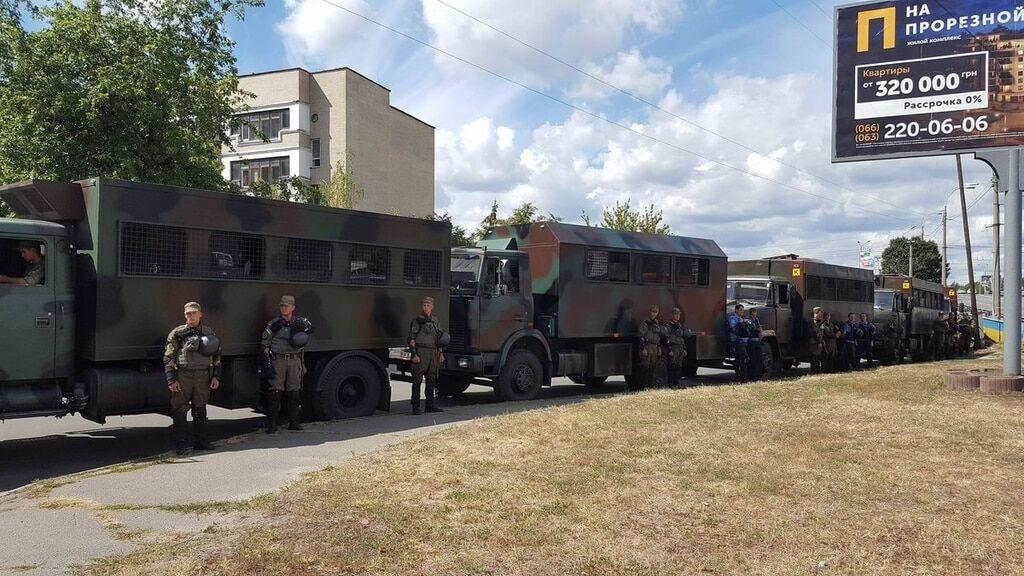 """Оболонский суд оцепила Нацгвардия и полиция: рассматривается дело """"Торнадо"""""""