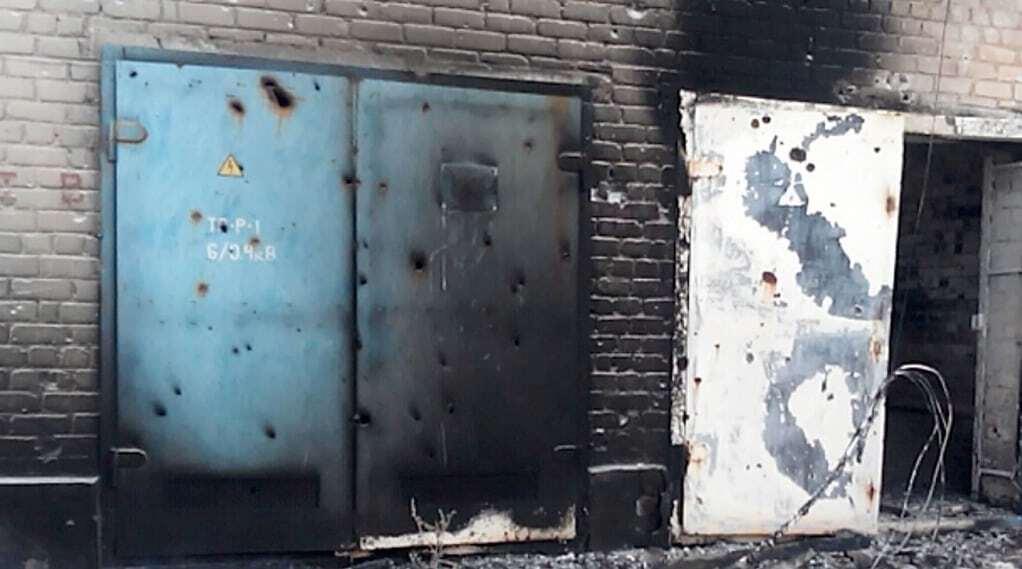 Военные показали последствия обстрела террористами Марьинки