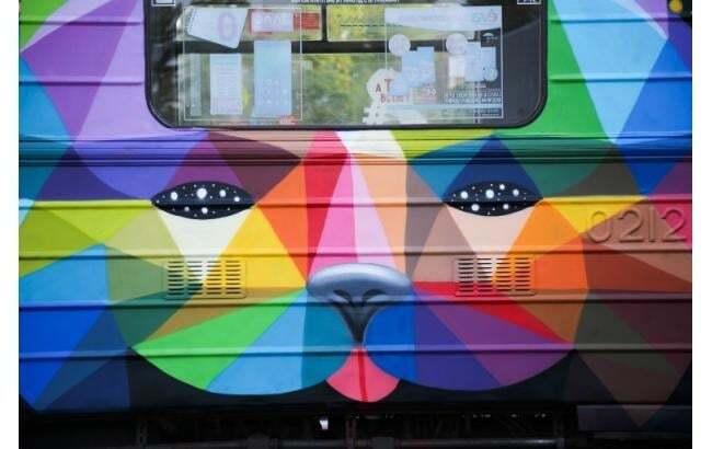 В Киевском метро запустили сказочный поезд-мурал