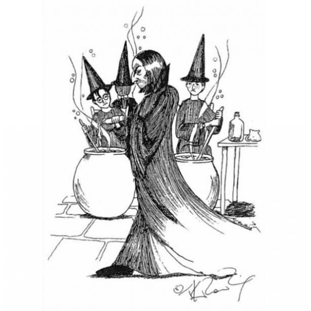 """Роулинг показала свои иллюстрации к """"Гарри Поттеру"""""""