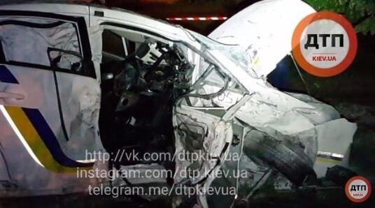 ДТП с авто полиции в Киеве: появилось видео с места аварии