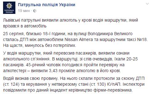 Facebook Патрульной полиции Украины
