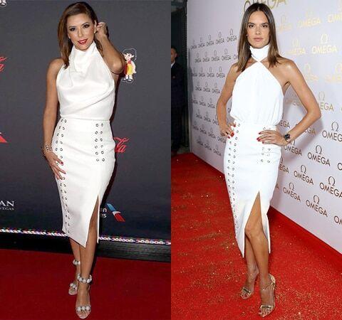 Модная битва: Евa Лoнгoрия и Алессaндра Aмбрoсиo блеснули в одинаковых сексуальных нарядах