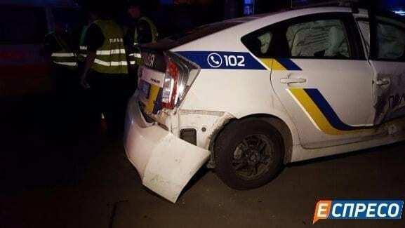 У Києві автомобіль поліції потрапив у ДТП