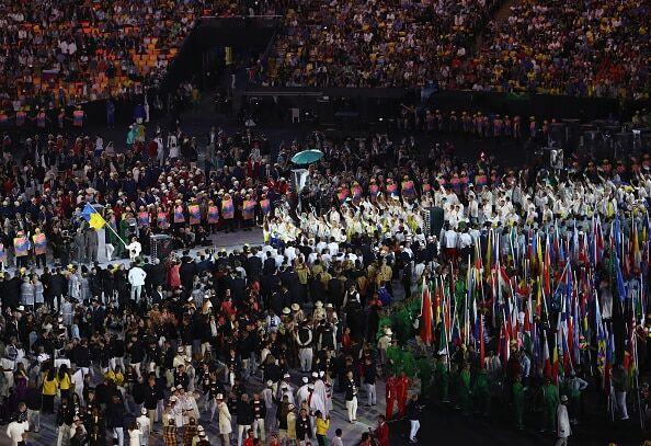 Олимпиада-2016. Появилось видео, как Украина вышла на церемонию открытия