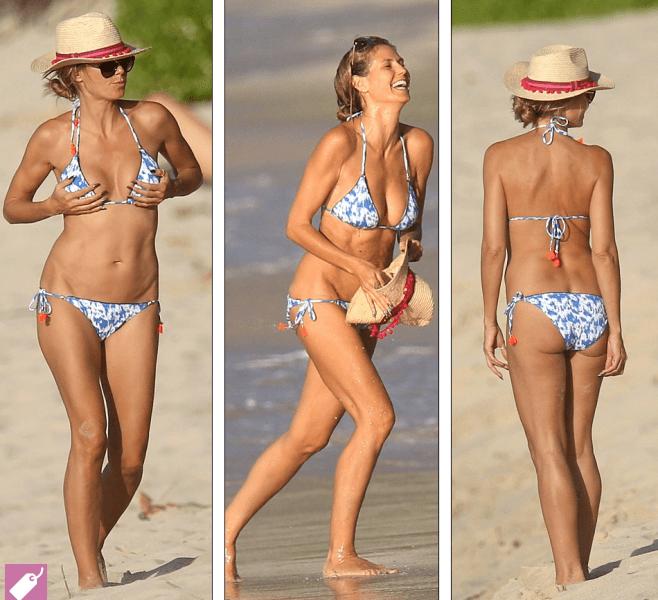 43-летняя Хайди Клум в мини-бикини отдохнула на Карибах
