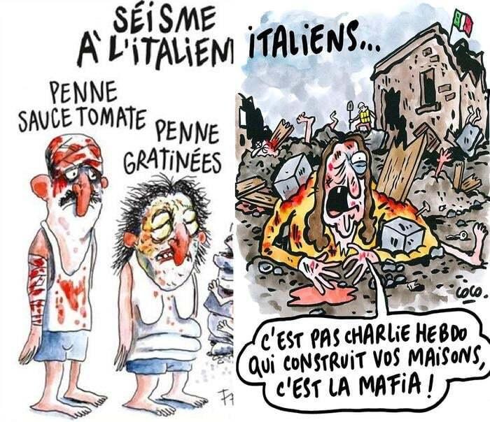 Землетрус в Італії: влада постраждалого міста подали в суд на Charlie Hebdo через карикатури