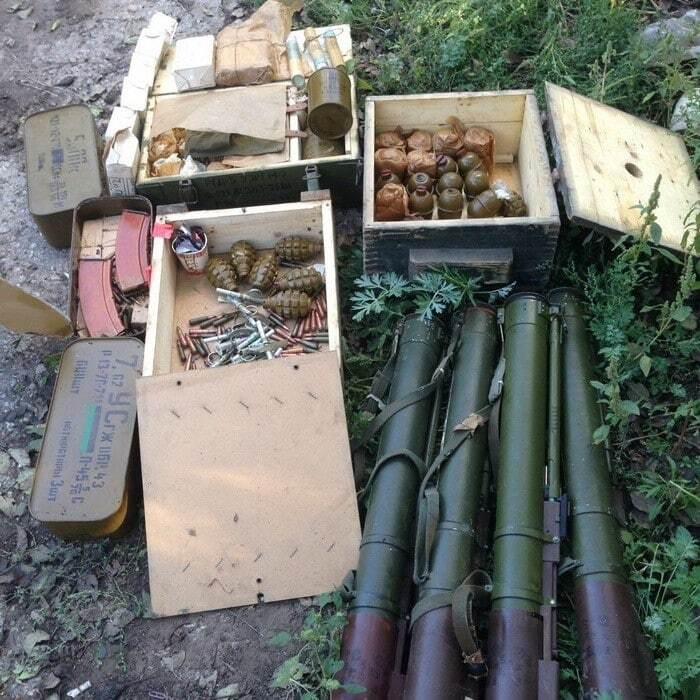 СБУ виявила в АТО схованки терористів із російськими гранатометами