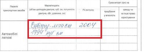 Декларації сім'ї Шилової