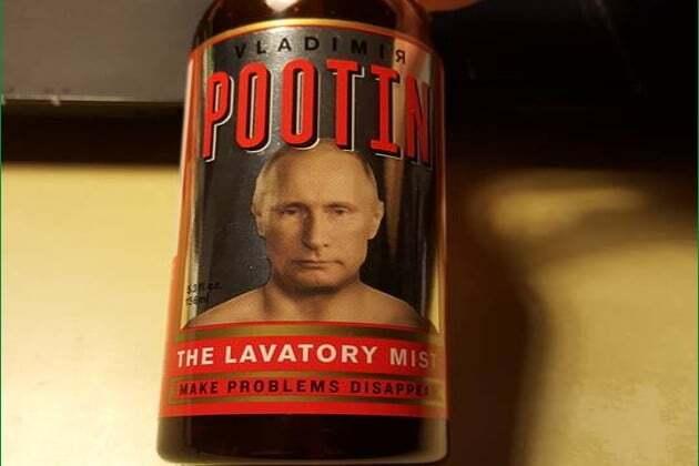 """""""Я приховую ваші брудні секрети"""": у США з'явився туалетний освіжувач """"Путін"""""""