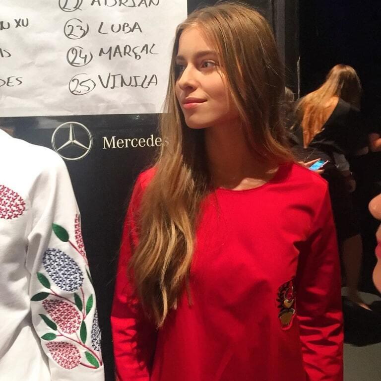 Внучка Ротару поддержала украинского дизайнера на Неделе моды в Мадриде