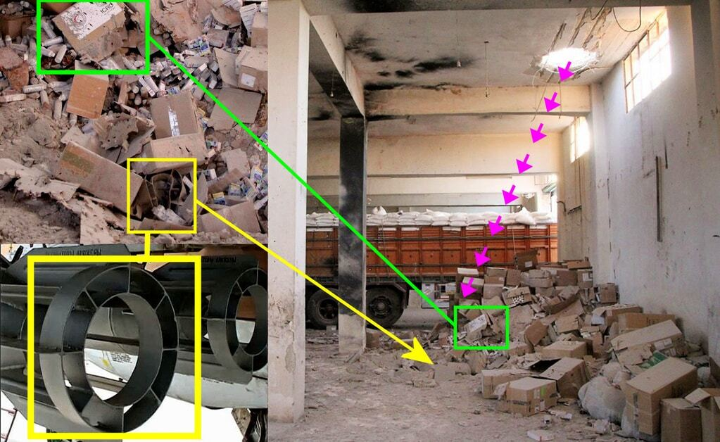 НАТО не використовує: у Bellingcat показали, чим Росія обстріляла гумконвой у Сирії