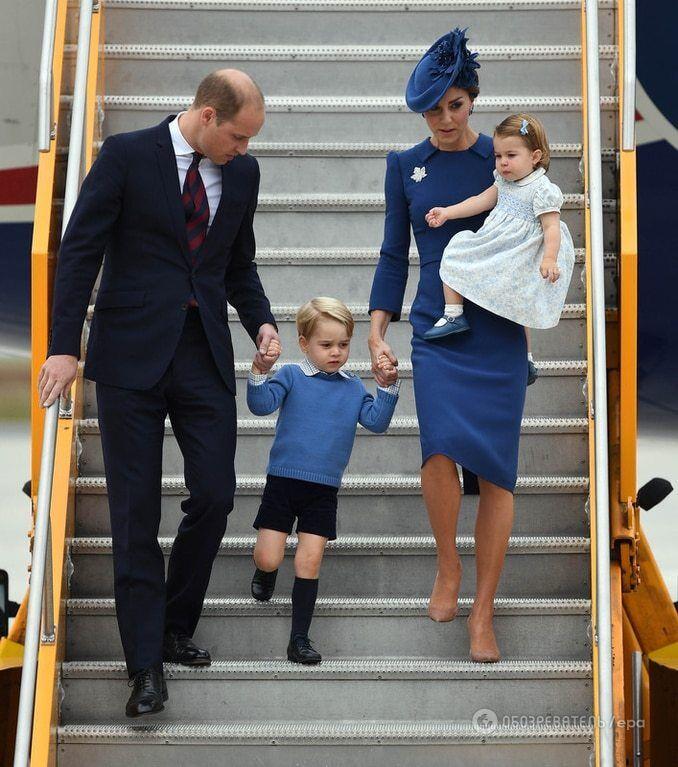"""Трехлетний принц Джордж отказался давать """"пять"""" премьеру Канады"""