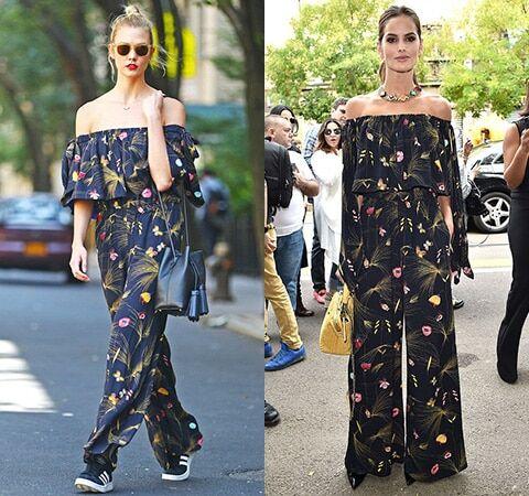 """Модная битва: Карли Клосс и """"ангел"""" Victoria's Secret Изабель Гулар вышли в свет в одинаковых нарядах от Fendi"""