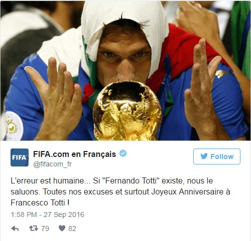 Курьез дня: ФИФА оконфузилась с поздравлением легенды мирового футбола