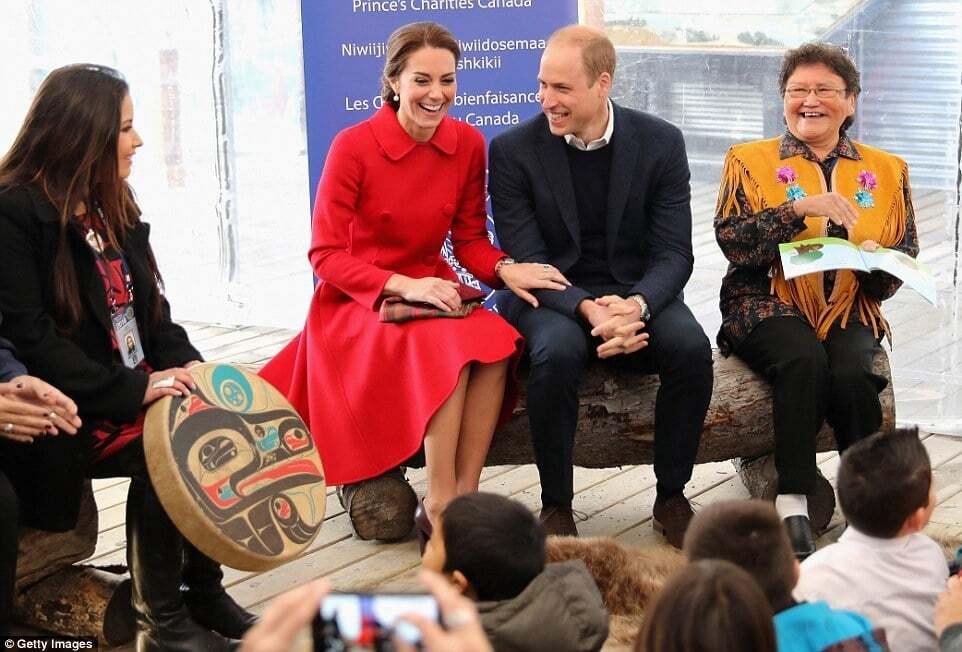 Индейцы племени тагиш устроили теплый прием Кейт Миддлтон и принцу Уильяму в Канаде