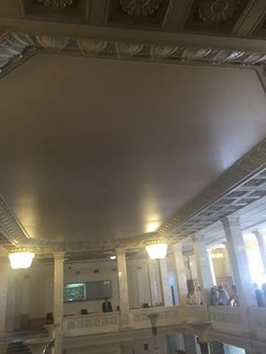 Декоммунизация: в Раде исчезло советское панно на потолке