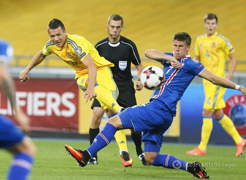 Украина сыграла вничью с Исландией в первом матче отбора на ЧМ-2018