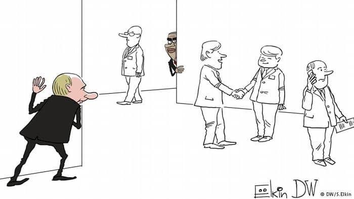 """Гра в хованки на """"Великій двадцятці"""": карикатурист висміяв зустріч Путіна і Обами"""