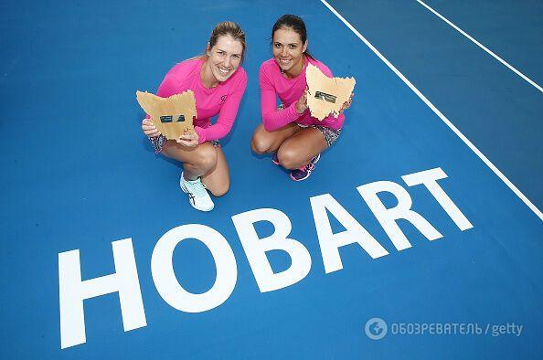 Украинка выиграла в паре теннисный турнир в Австралии