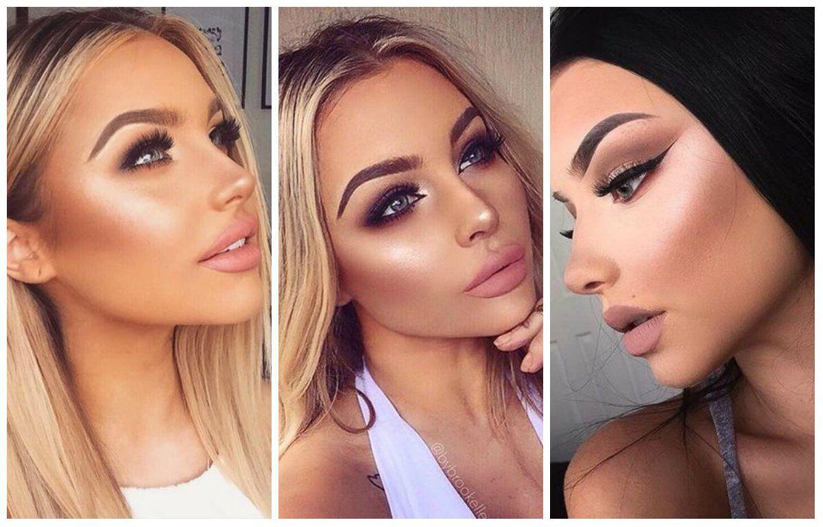 макияж в технике контуринг