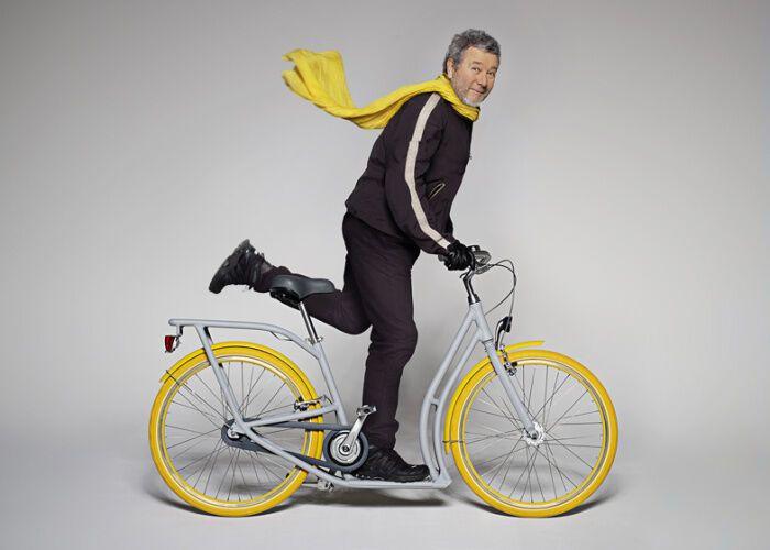 Городской велосипед - самокат.