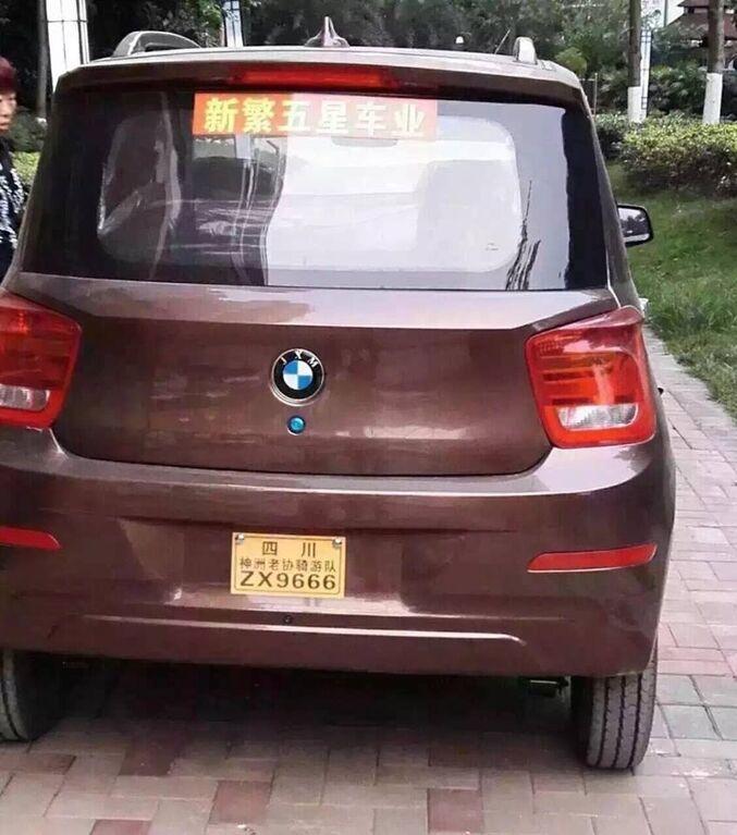 Китайская подделка: в Поднебесной заметили загадочный автомобиль в стиле BMW