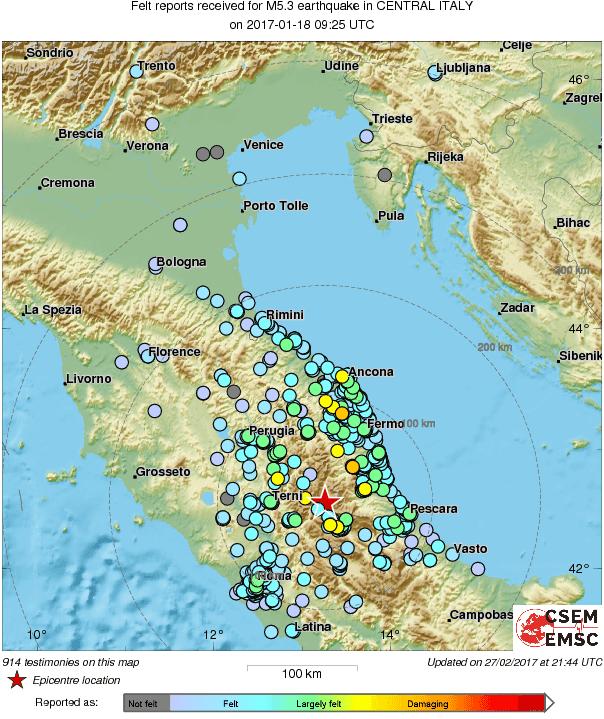 В Італії сталося кілька землетрусів: у Римі евакуювали пасажирів метро