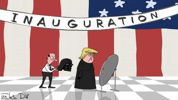 "Дарт Вейдер или джедай? Появилась карикатура на Трампа ""перед коронацией"""