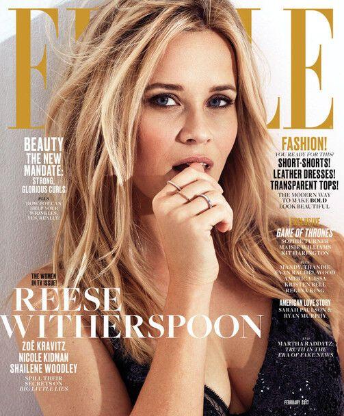 Кідман, Уізерспун, Вудлі і Кравіц знялися в модній фотосесії для Elle