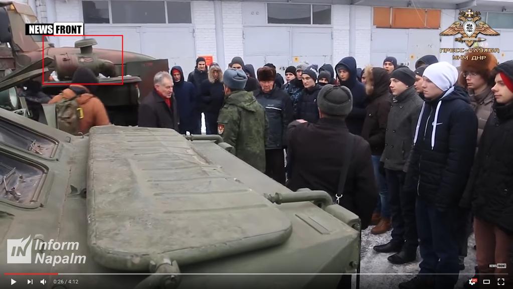 Волонтери засікли в захопленому Донецьку нові бойові машини Путіна