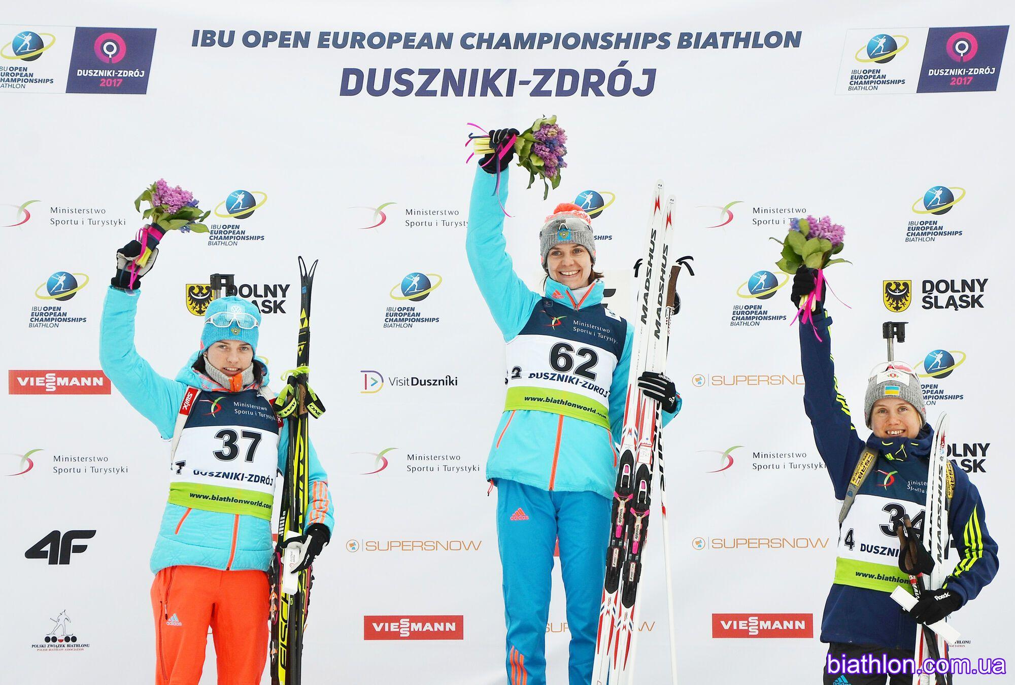 Украинка завоевала медаль в стартовой гонке чемпионата Европы по биатлону