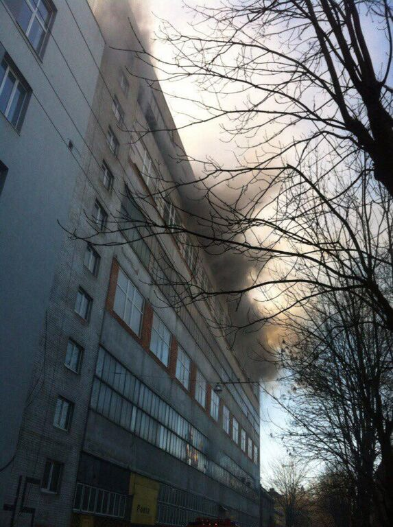 "Масштабна пожежа у Львові: горів завод ""Електрон"""