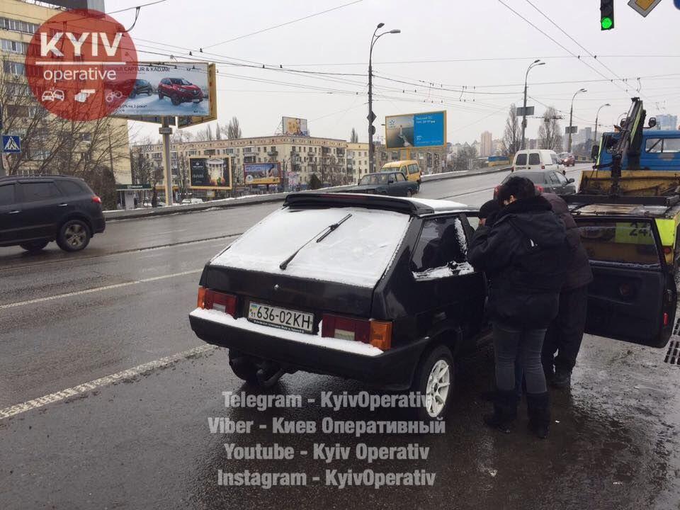 У Києві автовикрадача випадково затримали в заторі
