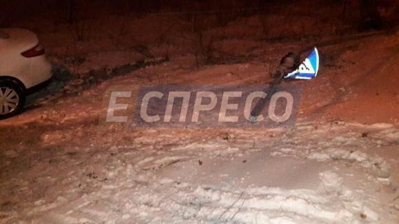 В Киеве пьяная женщина-водитель снесла светофор