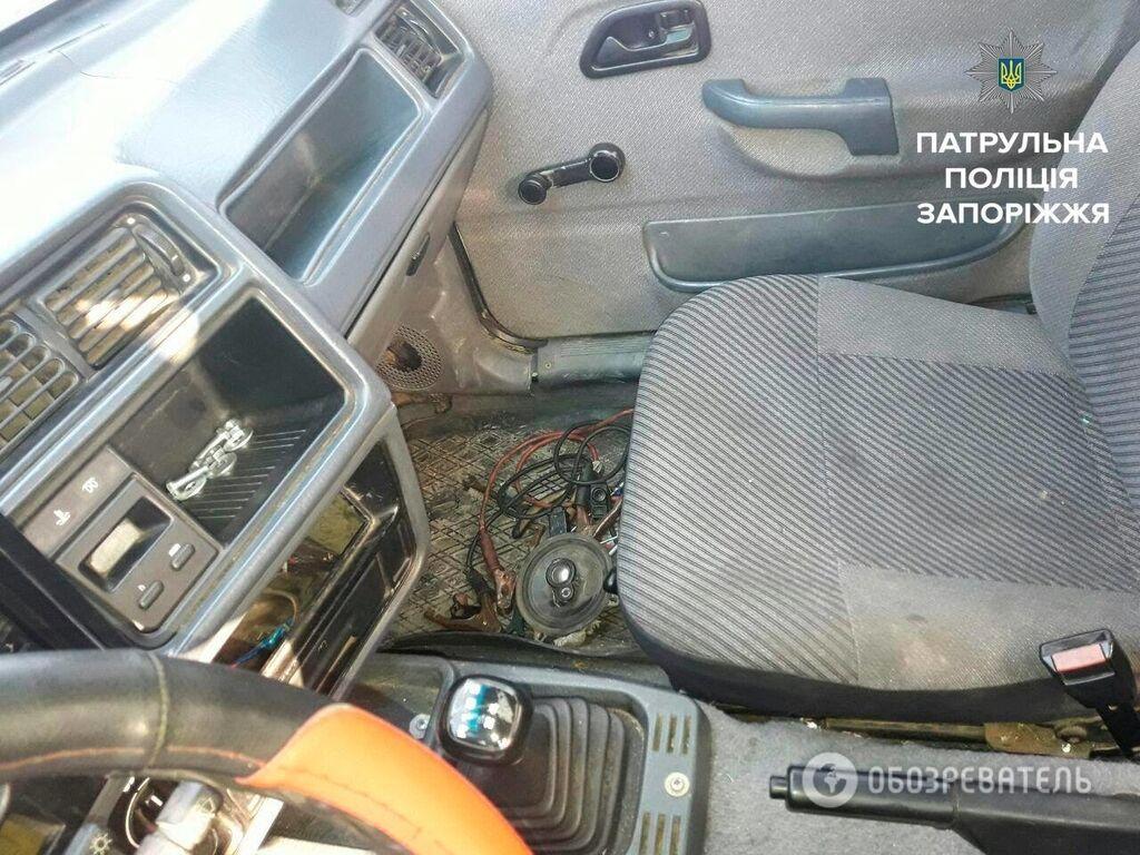 Запорожская полиция нашла подозрительную иномарку