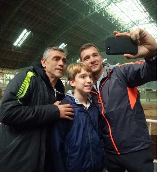 Шевченко з сином